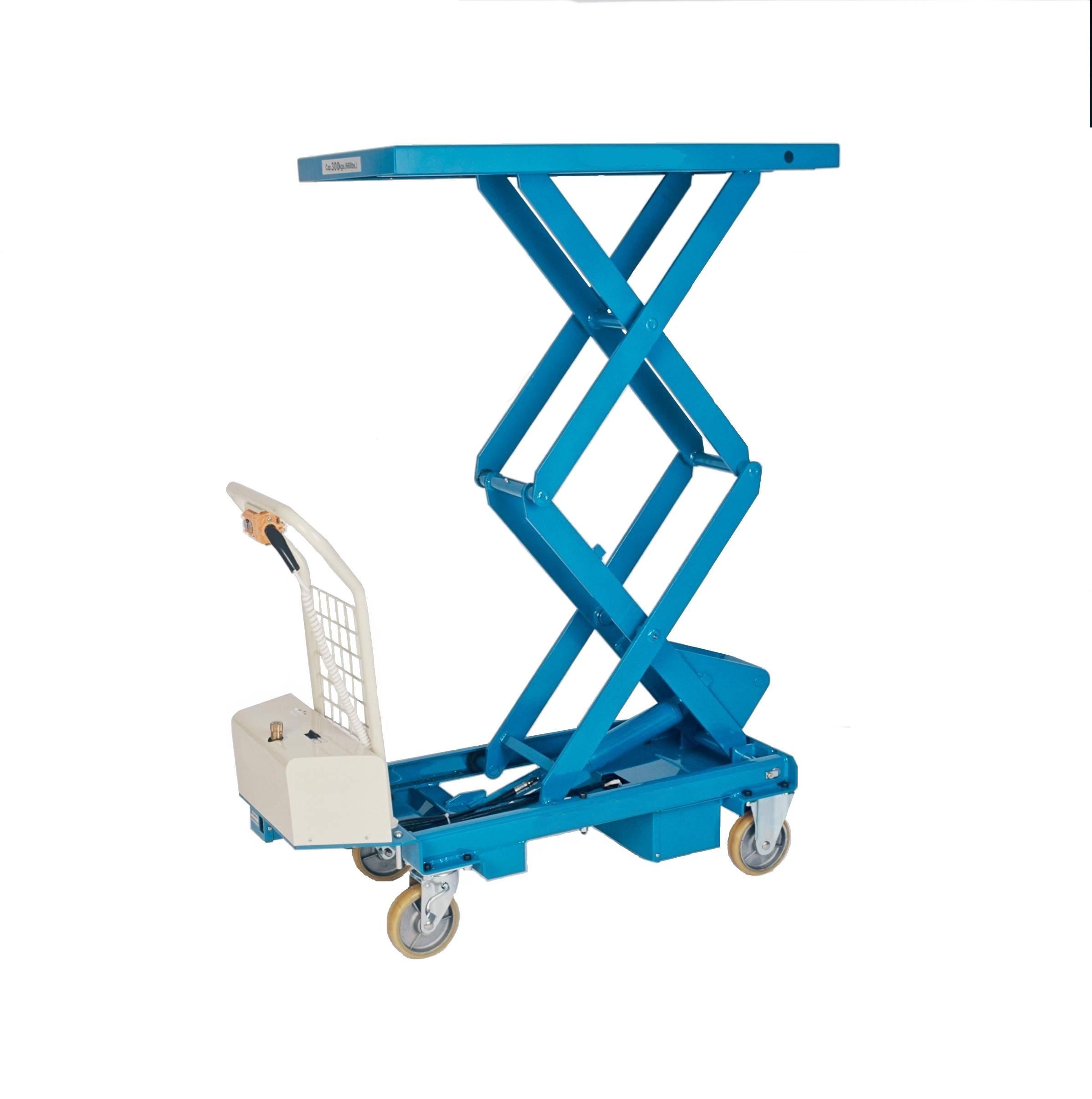Fahrbarer Hubtisch mit Doppelschere