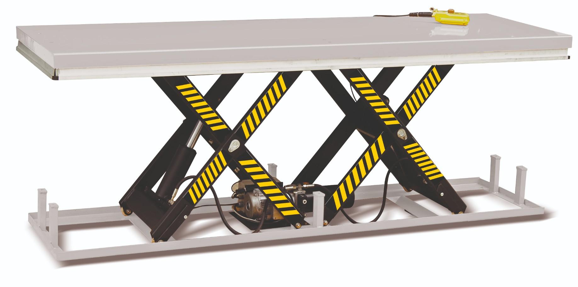 Silverstone stationärer Hubtisch mit Tandem-Schere im companyshop24
