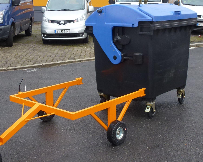 Elektroschlepper Müllcontainer Kupplung